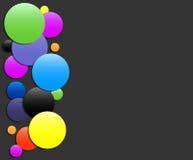 Fondo negro cuadrado colorido - diseño del vector Imagen de archivo libre de regalías