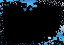 Fondo negro de la estrella ilustración del vector