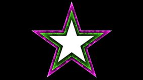 Fondo negro de la estrella 038 - colorido de neón del resplandor - libre illustration