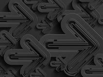 Fondo negro de la flecha del extracto del negocio del vector Fotos de archivo libres de regalías