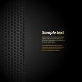 Fondo negro de la malla con el texto de la muestra Imagen de archivo libre de regalías