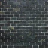 Fondo negro de la pared de ladrillo Fotografía de archivo