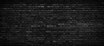 Fondo negro de la pared de ladrillo Fotografía de archivo libre de regalías