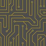 Fondo negro de la placa de circuito del vector Fotos de archivo libres de regalías