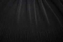 Fondo negro de la textura de la tela Imagen de archivo libre de regalías
