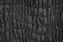 Fondo negro de la textura de la tela Foto de archivo