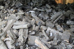 Fondo negro de la textura del carbón de leña Foto de archivo