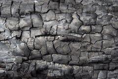 Fondo negro de la textura del carbón de leña Textura de madera quemada Imagenes de archivo