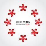 Fondo negro de viernes Fotografía de archivo libre de regalías