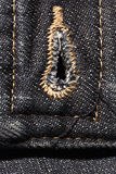 Fondo negro del dril de algodón Imagen de archivo libre de regalías
