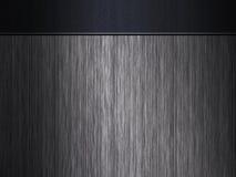 Fondo negro del metal con la venda grabada Foto de archivo
