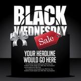 Fondo negro del panier de la venta de miércoles Fotos de archivo