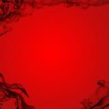 Fondo negro del rojo del humo Imagenes de archivo
