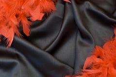 Fondo negro del satén Foto de archivo libre de regalías