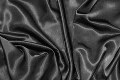 Fondo negro del satén Foto de archivo