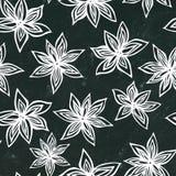 Fondo negro del tablero Modelo de Anise Star Seed Seamless Endless Fondo estacional del alimento Especia y cóctel reflexionado so stock de ilustración