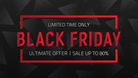 Fondo negro del vector de la venta de viernes Imágenes de archivo libres de regalías