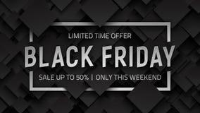 Fondo negro del vector de la venta de viernes Imagen de archivo libre de regalías