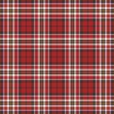 Fondo negro, rojo y blanco de la tela escocesa Fotos de archivo