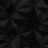 Fondo negro Textura arrugada triángulo abstracto ilustración del vector