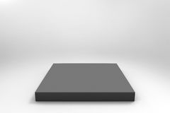 Fondo negro vacío del cubo Imagenes de archivo