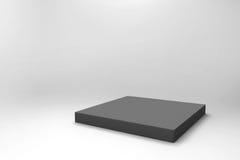 Fondo negro vacío del cubo Imagen de archivo libre de regalías