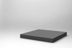 Fondo negro vacío del cubo Foto de archivo libre de regalías