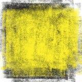 Fondo negro y amarillo de la mancha Fotos de archivo