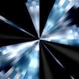 Fondo negro y azul del vórtice ilustración del vector