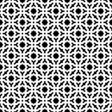 Fondo negro y blanco geométrico decorativo inconsútil abstracto del modelo Foto de archivo libre de regalías