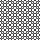 Fondo negro y blanco geométrico floral inconsútil decorativo del modelo Fotografía de archivo libre de regalías