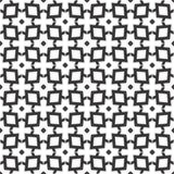 Fondo negro y blanco geométrico floral inconsútil decorativo del modelo Foto de archivo libre de regalías