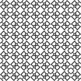 Fondo negro y blanco geométrico floral inconsútil decorativo del modelo Fotos de archivo libres de regalías
