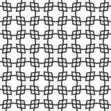 Fondo negro y blanco geométrico floral inconsútil decorativo del modelo Foto de archivo