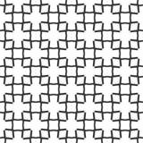 Fondo negro y blanco geométrico floral inconsútil decorativo del modelo Fotos de archivo