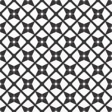 Fondo negro y blanco geométrico floral inconsútil decorativo del modelo Fotografía de archivo