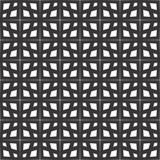 Fondo negro y blanco geométrico floral inconsútil decorativo del modelo Imágenes de archivo libres de regalías