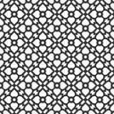 Fondo negro y blanco geométrico floral inconsútil decorativo del modelo Imagenes de archivo