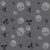 Fondo negro y gris del cráneo - Foto de archivo