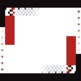 Fondo negro y rojo ilustración del vector