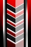 Fondo negro y rojo geométrico Imagen de archivo