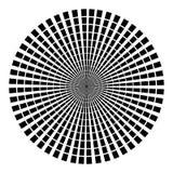Fondo nella forma di raggi neri sotto forma di un cerchio su un fondo bianco Illustrazione di vettore per web design illustrazione di stock