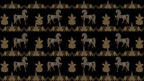 Fondo nero astratto con i modelli pieghi dell'argento e dell'oro, Ra Fotografia Stock
