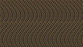 Fondo nero astratto con il modello dell'oro, immagine raster per Th Fotografia Stock