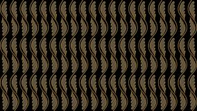 Fondo nero astratto con il modello dell'oro, immagine raster per Th Immagine Stock