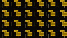 Fondo nero astratto con il modello dell'oro, l'immagine raster per la progettazione dei tessuti, l'industria di stampa e la varie Immagine Stock