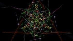 Fondo nero astratto con le linee colorate illustrazione vettoriale