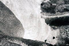 Fondo nero astratto dell'acquerello illustrazione di stock