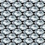 Fondo nero con il modello senza cuciture dei diamanti Immagini Stock Libere da Diritti