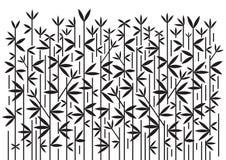 Fondo nero decorativo di bambù illustrazione vettoriale